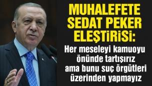 Erdoğandan Sedat Peker açıklaması: Lağım çukuru ...